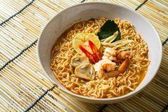 bowl of ramen noodles with shrimp