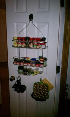 My daughters invention - her shower caddy spice organizer - I love it!