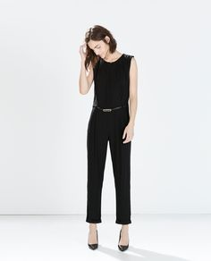 Image 1 of JUMPSUIT WITH TEARDROP CUTOUT from Zara