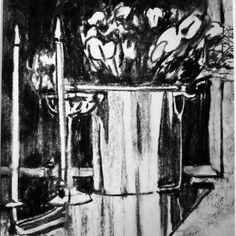 "0 likerklikk, 1 kommentarer – Elin Holm (@elinartholm) på Instagram: ""Flowers in silver bowl #flowers #norwegianart #losangelesart #scandinavianart #scandinavianartwork…"""