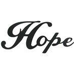 Hope Black Metal Wall Word