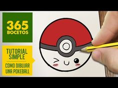 COMO DIBUJAR UNA POKEBALL KAWAII PASO A PASO - Dibujos kawaii faciles - How to draw a pokeball - YouTube