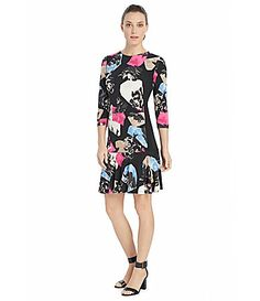 Ellen Tracy Abstract FloralPrint Flounce Hem Sheath Dress #Dillards