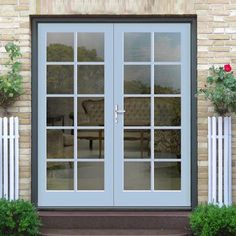 Made to measure external Straight top 10 pane per leaf door pair, a lovely traditional design at a low cost that will brighten up your home. External French Doors, External Doors, Entrance Doors, Patio Doors, Traditional Doors, Traditional Design, Minimal Traditional, Door Design, House Design