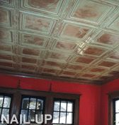 Tin Ceilings!   Oh... with the rich colors of the walls and windows. Just yes.