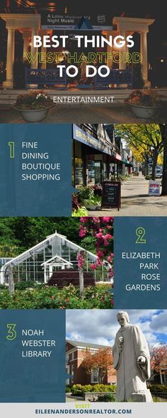 Best things to do in West Hartford, Ct. Fine dining, boutique shopping, music, entertainment, wine bars.
