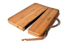 Silva bamboo MacBook Pro case, $180  • But where do you put the power adapter?