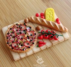Miniature plate of food for dolls and от SweetMiniDollHouse