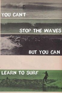 I use an analogy very similar to this all the time.  You don't have to drown.  There's another option.
