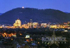 Roanoke, VA with the Mill Mountain Star lit up!!