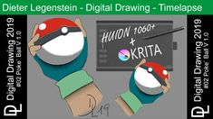 """Dieter Legenstein – Digital Painting 2019 / Picture #02 """"Poke` Ball #1"""" Corel Painter, Video Artist, Videos, Photoshop, Social Media, Drawing, Youtube, Pictures, Painting"""