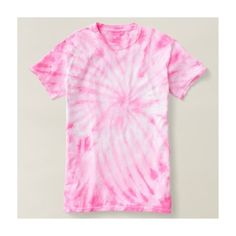 Pink Cyclone Tie-Dye T-Shirt ($32) ❤ liked on Polyvore featuring tops, t-shirts, tie dyed tops, pink tee, tye die t shirts, tye dye t shirts and tie dye t shirts