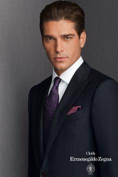 Cloth by Ermenegildo Zegna Business Look, Business Men, Suit Fashion, Mens Fashion, Mode Masculine, Beautiful Eyes, Milan, Suit Jacket, Formal