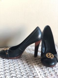 30a64ba2b Tory Burch Womens Platform Pumps Black Leather High Heels Size 6  fashion   clothing  shoes  accessories  womensshoes  heels (ebay link)