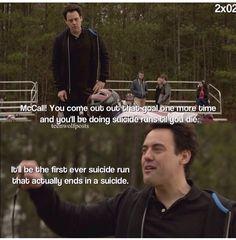Teen Wolf Season 2 Coach threatening McCall with suicide runs...