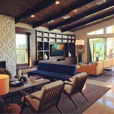 Nice work @bobbyberk #midcenturyfurniture #midcenturymodern #inspired #joybird  #livingroom #midcentury