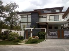 Projects-old – uPVC Doors & Windows Philippines Two Story House Design, 2 Storey House Design, House Gate Design, Bungalow House Design, Modern Zen House, Modern Small House Design, Mid-century Modern, Modern House Philippines, Philippine Houses