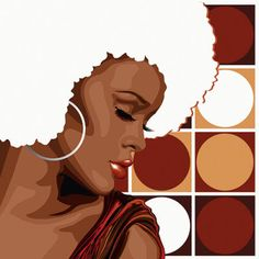 soul sister with white afro, this is nice, mandy reinmuth is the artist that created this!!