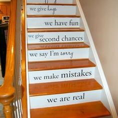quotes on the stairs