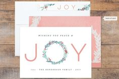 Joyful Wreath Holiday Card, holiday cards,holiday photo cards, Christmas cards, photo cards, Christmas photo cards, new year cards, online christmas cards, holidays, cards, wreaths, Christmas, new year, stationery,minted, minted holiday cards, minted holiday 2015,minted cards, watercolor, watercolor cards, hand painted,wreath, botanical, joy, holiday wreaths, leaf, leaves, berry, berries