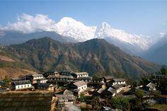 We stayed here in Ghandruk. Emily and I both got giardia.