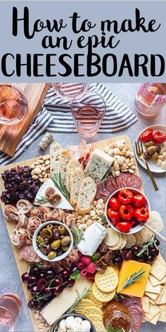 How to make a charcuterie board - Charcuterie platter - Cheese Plateau Charcuterie, Charcuterie Platter, Charcuterie And Cheese Board, Charcuterie Ideas, Antipasti Board, Cheese Platter Board, Cheese Platters, Food Platters, Cheese Boards