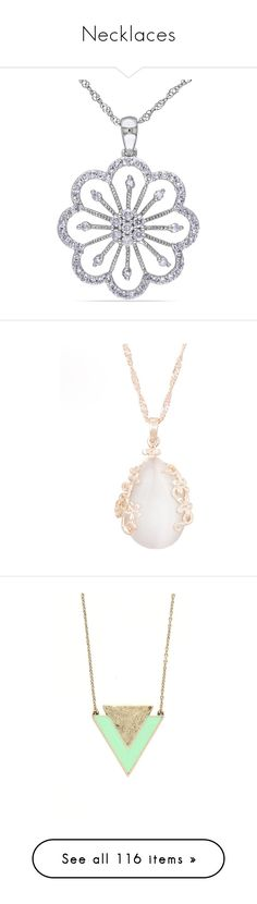"""Necklaces"" by hallierosedale ❤ liked on Polyvore featuring jewelry, necklaces, white, long pendant necklace, diamond necklace, diamond pendant necklace, 14k white gold necklace, diamond circle necklace, accessories and opal jewellery"