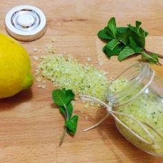 Sale aromatizzato al limone e menta