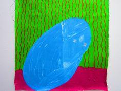 Pintura inspirada en la historia Ojos de pero azul de Gabriel García Márquez