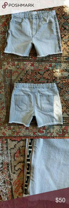 "Isabel Marant Etoile shorts Denim summer shorts with decorative trim and frayed hem. Five pockets. Boyfriend cut. French size 40. Waist, 33"". Length, 15.5"" with fringe Isabel Marant Shorts Jean Shorts"