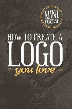 An e-course that will teach you how to create a logo you love and can be proud of, plus a free logo design resource guide and checklist to get you off and running right away! Inspiration Logo Design, Graphic Design Tips, How To Design Logo, Free Logo Design, Design Ideas, Business Branding, Logo Branding, Branding Design, Business Logo Design