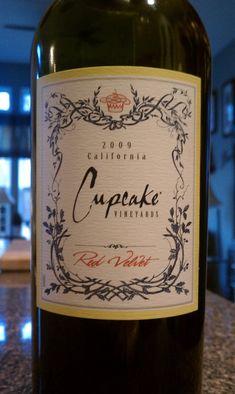 Red velvet wine from Cupcake Vineyards. yum