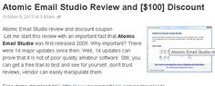 Atomic Email Studio Atomic Email Studio review Atomic Email Studio discount Atomic Email Studio coupon bulk email software