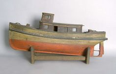 Wonderful Handmade Folk Art Boat