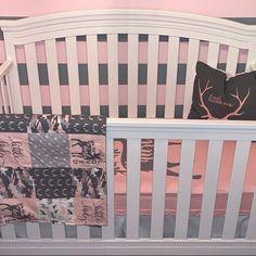 Baby girl nursery deer bedding sets Most Popular ideas Deer Bedding, Baby Girl Quilts, Baby Nursery Bedding, Nursery Bedding Sets, Girl Nursery, Babies Nursery, Crib Bedding, Quilt Baby, Nursery Room