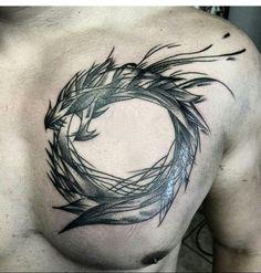 Mi primer tatoo  ouroboros