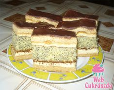 Poppy Cake, Hungarian Recipes, Tiramisu, French Toast, Food And Drink, Breakfast, Ethnic Recipes, France, Morning Coffee