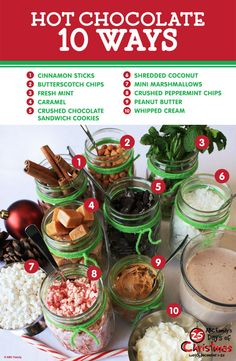 Everyone loves hot chocolate this time of year! Here's 10 ways to spice up your favorite drink while watching ABC Family's 25 Days of Christmas December 1-25, 2014. Click to see the full 25 Days of Christmas schedule!