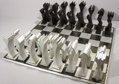 aluminum chess set