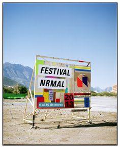 FESTIVAL NRMAL 2013(Art Direction & Branding)Branding e instalaciones para Festival Nrmal 2013(Trabajo en progreso)