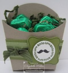 Stampin Up french fry box die st patricks day green crafts
