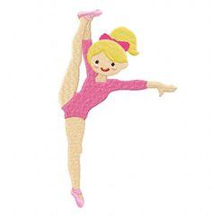 Gymnastics Girl-2 EmbroiderOcean Design