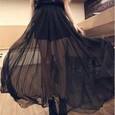 Buy 'QZ Lady – Inset Shorts Sheer Maxi Skirt' with Free International Shipping at YesStyle.com. Browse and shop for thousands of Asian fashion items from China and more!