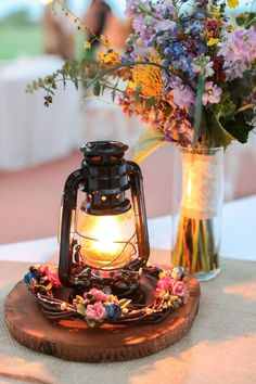 We're loving the rustic details of this couple's backyard wedding!
