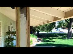 Painfully long video, but good ideas for our porch--How to build a porch / patio columns from scratch