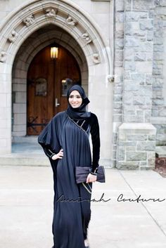Latest Fashion Of Hijab & Abayas Black Ice Winter Collection 2013 by Amirah Couture