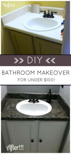 Budget Bathroom Makeover. AMAZING WHAT A LITTLE PAINT CAN DO! Transform  Your Bathroom With