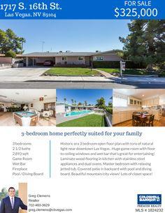 Price Reduced on this Downtown Las Vegas pool home! #GregSellsLasVegas #ColdwellBanker #LasVegasHomes