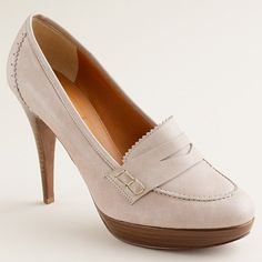 J.Crew Biella high-heel loafers $99 marked down from $265.