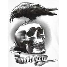 The Expendables raven and skull lineart?